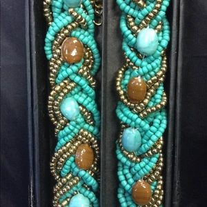 Ornate turquoise beaded necklace